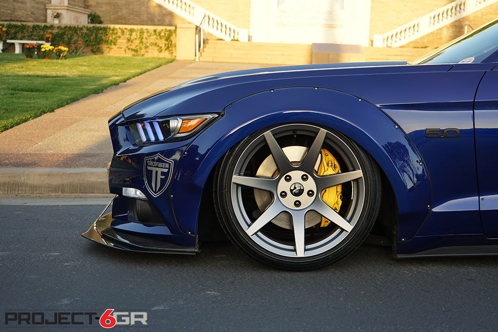 First ever wide body S550 Mustang on Project 6GR R-spec wheels