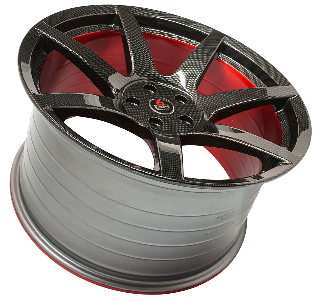 Introducing an all new Project 6GR Custom Finish Carbon Fiber Hydro Dip / Brushed Red Barrel