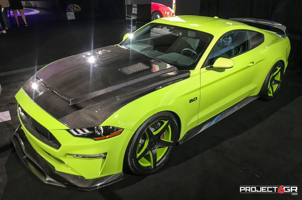 Los Angeles auto show, 2020 Grabber Lime Mustang GT sporting custom Two-tone Project 6GR 5-FIVE wheels