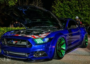 Widebody Bagged Mustang GT gets completed with the Project 6GR 7-SEVEN wheels