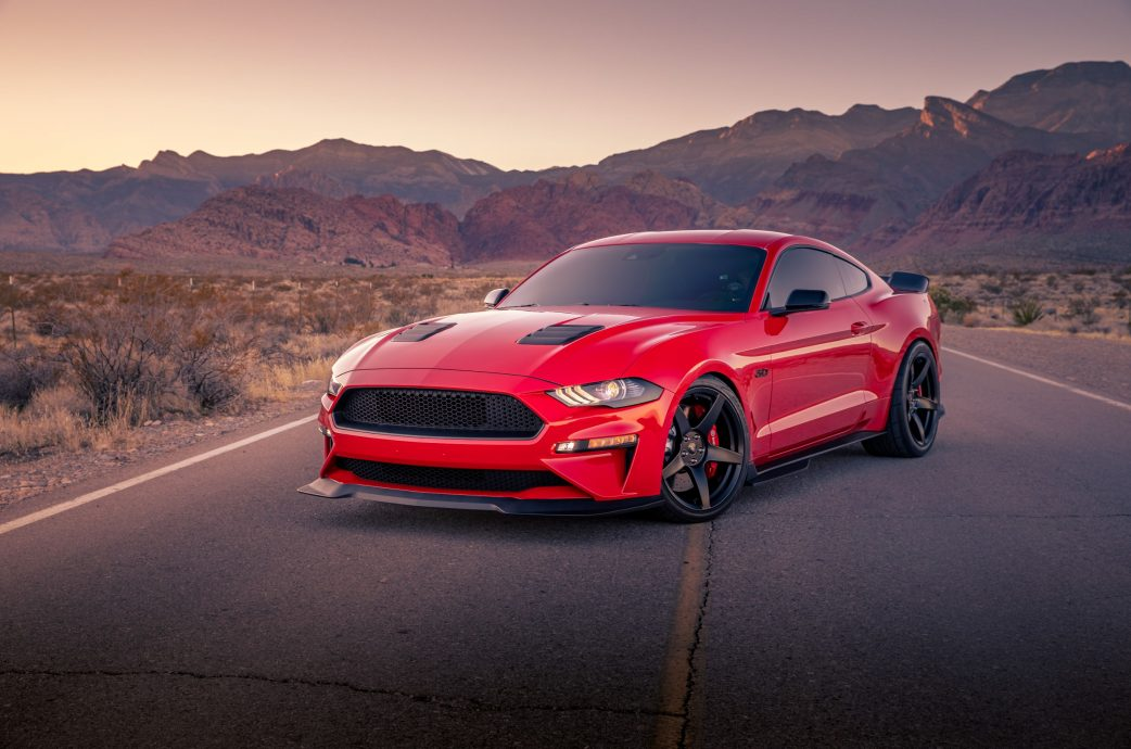 Race Red Mustang GT Built to perfection, Project 6GR 5-FIVE Satin Black, GT350R upgraded brake kit