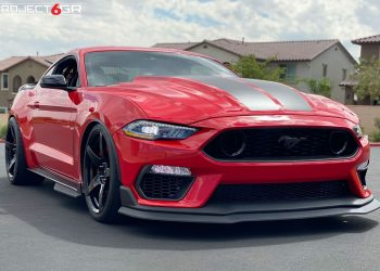 Race Red Mustang GT Built to perfection, Project 6GR 5-FIVE Satin Black, Mach 1 Bumper Conversion, GT350R upgraded brake kit